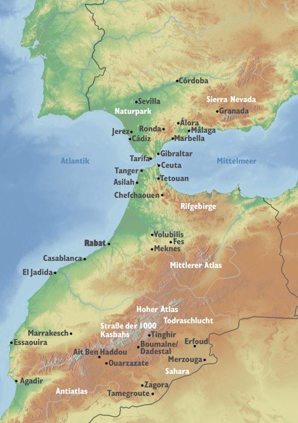 Reiseziele Marokko Andalusien